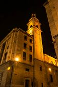 The bell tower in the dark, Turin