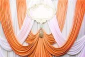 White And Copper Curtain Backdrop Background