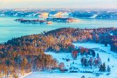 Winter Scandinavian scenery