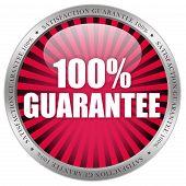 100 guarantee label
