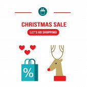 New Year Christmas Sale Let's Go Shopping Design Template For Your Business