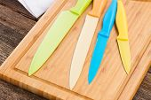 colorful knives