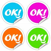 Ok stickers set