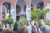 pic of blessed  - Blessing of the palms Easter Sunday at the entrance of the church - JPG