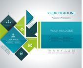 picture of web template  - Vector brochure flyer magazine cover web page poster template - JPG