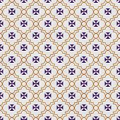 picture of maltese  - Purple and Gold Maltese Cross Symbol Tile Pattern Repeat Background that is seamless and repeats - JPG