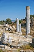 foto of cardo  - Part of the columnated street ruins that lie in the town of Side in Turkey - JPG