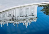 image of royal palace  - A reflection of the northern facade of the royal palace in Madrid - JPG