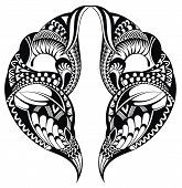 pic of henna tattoo  - Vector abstract tattoo - JPG