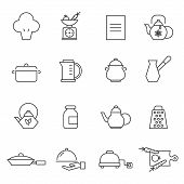 picture of pinafore  - Set of outlined cooking icons - JPG