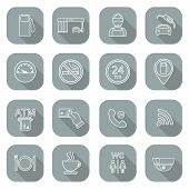 image of glyphs  - Line gas station icons - JPG