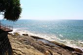 picture of observed  - The observation deck on the rocks and the Indian Ocean - JPG