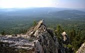 stock photo of lichenes  - Ural mountains and national park Taganay - JPG