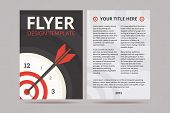foto of titillation  - Flyer design template with time management illustration on the cover - JPG