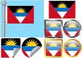 Set de bandera de Antigua y Barbuda