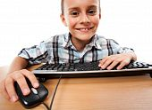 Kid Using Keyboard And Mouse