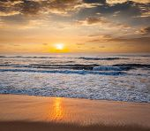 picture of serenity  - Peaceful serene morning on beach - JPG