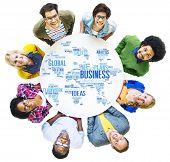stock photo of enterprise  - Business Global World Plans Organization Enterprise Concept - JPG