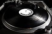 Turntable Playing Vinyl Audio Record