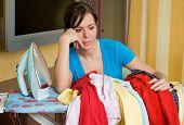 Woman During Ironing