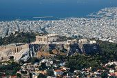 foto of piraeus  - View of Acropolis from Lykavittos hill  - JPG