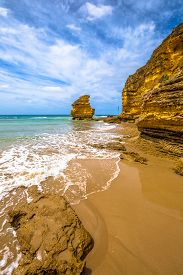 stock photo of inlet  - Step Beach in Eagle Point Marine Sanctuary - JPG