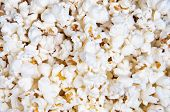 image of matinee  - Closeup of oil popped popcorn  - JPG