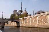 Notre Dame Cathedral and River Seine