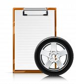 Clipboard With Wheel