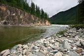 Kitoy river. Siberia. East Sayan Mountains. Buryat Republic.