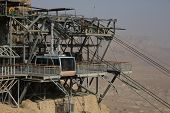 Cable car of Masada, the latest remains of Jewish in the ancient Israel