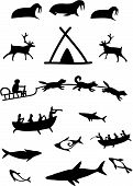 Animals and northern people.