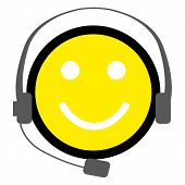 Yellow Smiley for Service