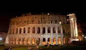 Ancient Theatre Of Marcellus At Night, Rome