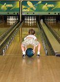 Little Girl Bowling