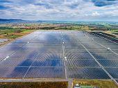 Aerial View Solar Farm , Solar Panels poster