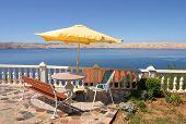 Scenic terrace view on adriatic sea
