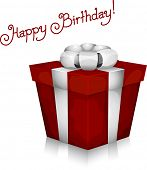 stock photo of happy birthday  - Illustration of a Gift with Birthday Greetings in the Background - JPG