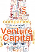 Background concept wordcloud illustration of venture capital