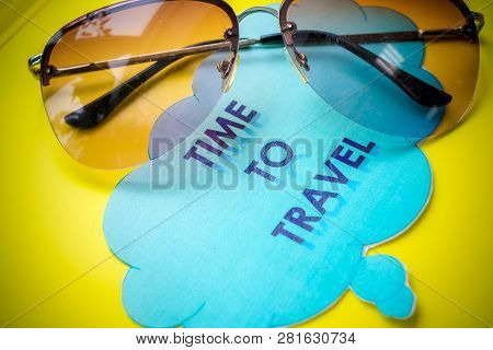 poster of Board With Message, Vacation Travel Traveling Holiday Holidays Relax. Welcome To Europe Travel Landm