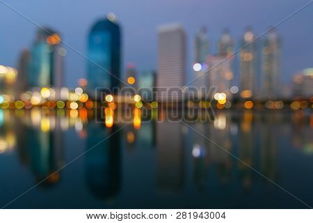 Twilight Blur Bokeh Light City