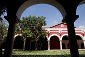 picture of hacienda  - Old spanish Yucatecan Hacienda Henequenera at Xcaret park - JPG