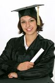 Graduate In Cap And Gown