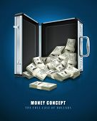 case with dollars money concept vector illustration EPS10.
