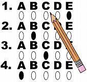 Multiple Choice Test W Pencil