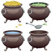pic of cauldron  - Pot in 4 different versions.