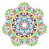 Mandala Round Pattern. Esoteric Vector Illustration. Vintage Decorative Culture Background. Indian B poster