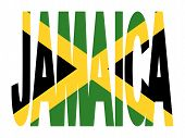 Jamaica Text With Jamaican Flag