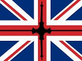 Trafalgar Square With Flag