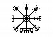 Decoding The Ancient Of The Symbols Norsemen. Vegvisir Viking Compass. The Vikings Used Many Symbols poster